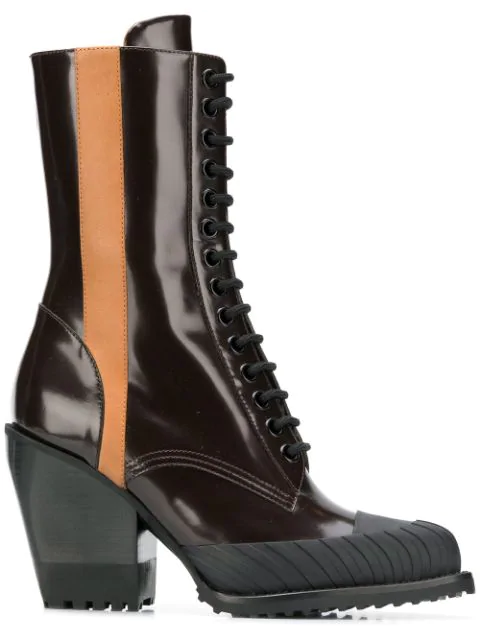 Chlo 201 Rylee Spazzolato Leather Ankle Boots Brown Modesens