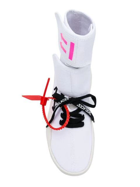 Off-White Moto Wrap High-Top Knit Sneakers In 0188