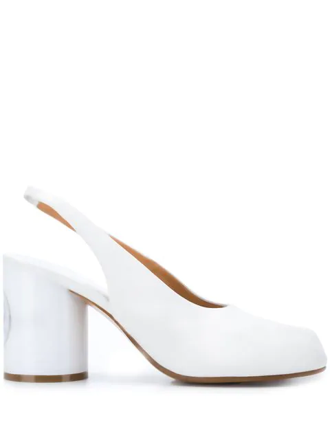 33b0150475a White Leather Chanell Tabi Sandals