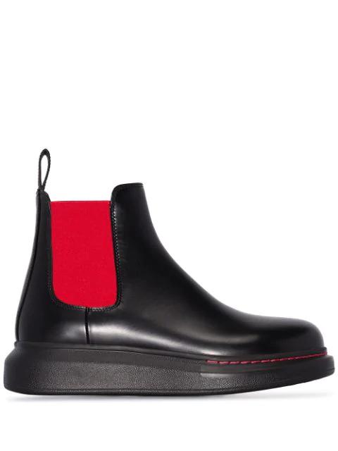 Alexander Mcqueen Ankle Boots Black New Liquid Spazz