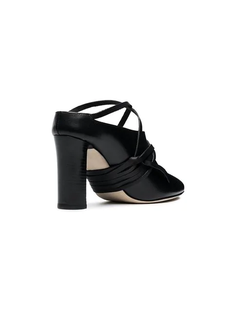Atp Atelier Teone 85 Vachetta Mules - Black