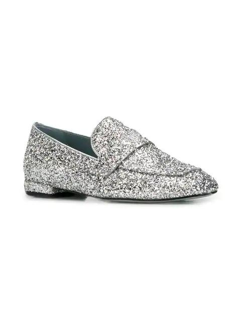 Silver Glitter Look In Chiara Im Silber Loafer Ferragni iuPZTOkX