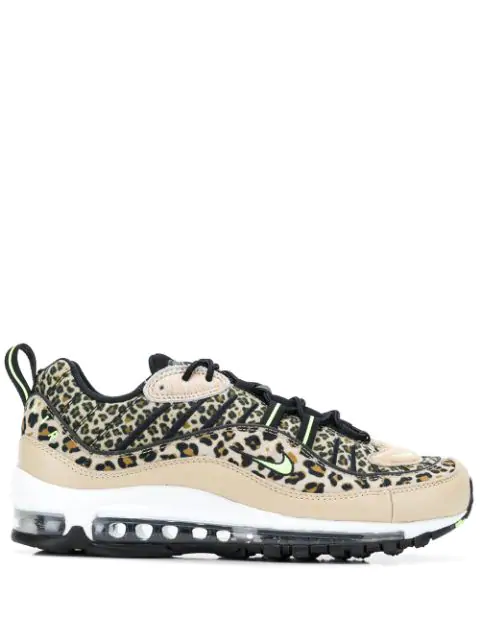 Nike Air Max 98 Leopard Print Sneakers In Brown | ModeSens
