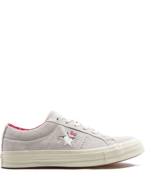 'one Star Ox' Sneakers In Vaporousgreyegretfieryred