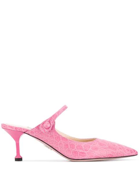Mules Kroko Pink Mit Prada Effekt Rosa In b7f6Ygy
