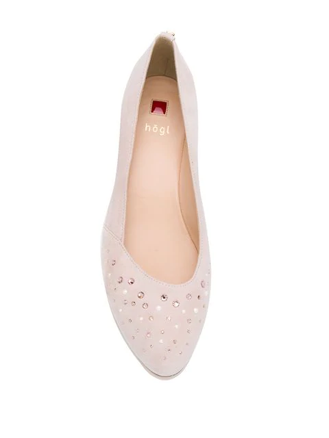 new product 2cd3f 15dc4 Stud Detail Wedge Pumps in Pink