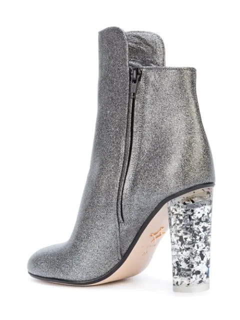 Andrea Gomez Chiara Ankle Boots - Metallic