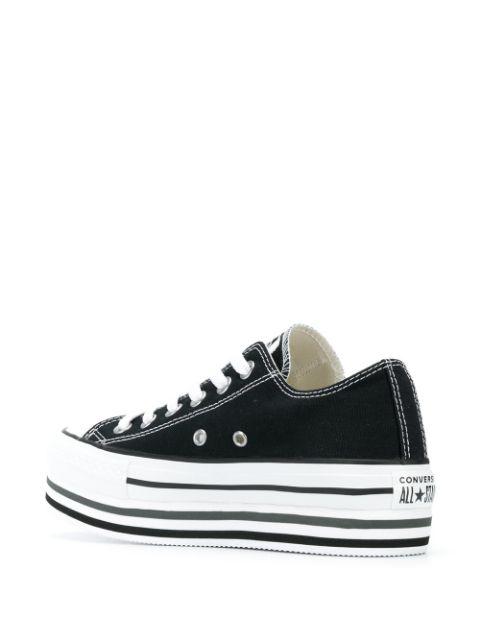 Converse Sneakers Mit Plateau - Schwarz In Black