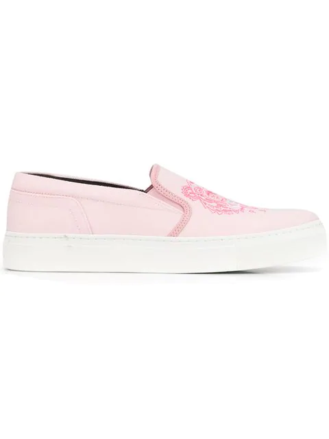 a7ea50b686 Kenzo Tiger Slip-On Sneakers In Pink   ModeSens