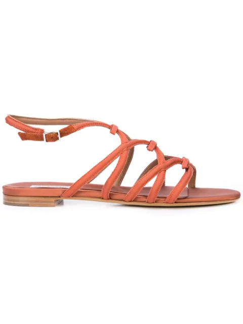 sports shoes 7500c a23e6 Tabitha Simmons Flache Sandalen - Rot in Red