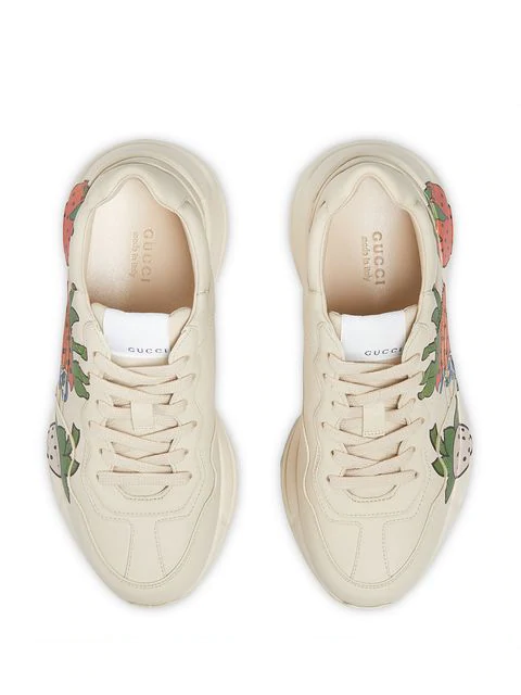 Gucci Low-Top Sneakers Rhyton In White