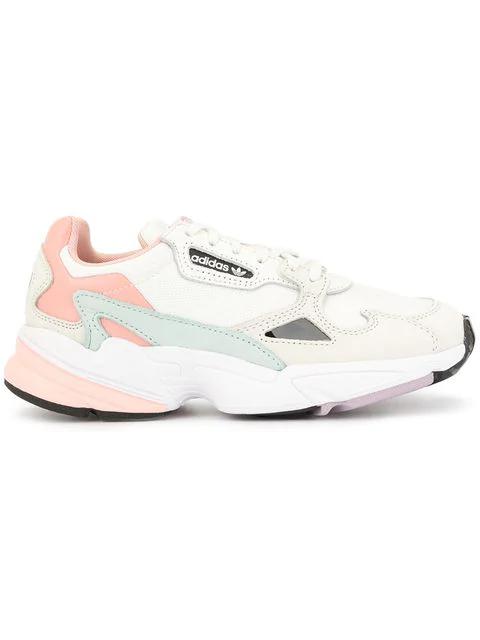8fa9b0a9775 Adidas Pink Falcon Sneakers - White
