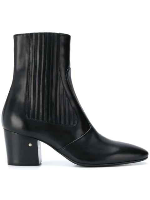 54c9ec7fce7 Ringo Pleated Leather Bootie in Black