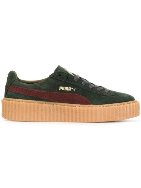 super popular 2969a af54b Fenty Puma X Rihanna Creeper Sneakers in Green