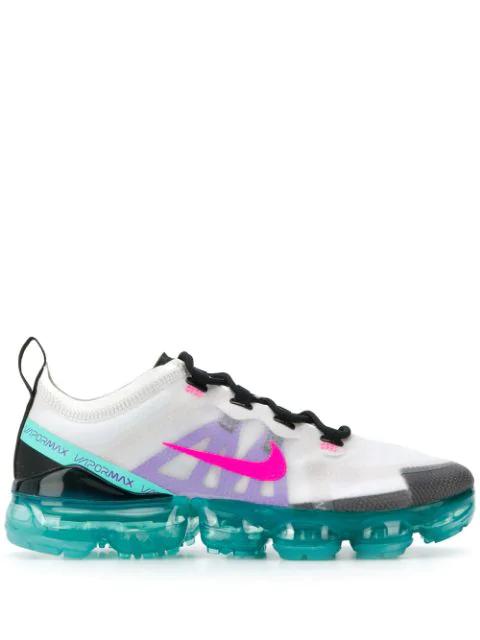 online retailer 8cb03 3c32e Women's Air Vapormax 2019 Running Shoes, Grey/Blue - Size 7.0 in Platinum  Tint Pink Blast