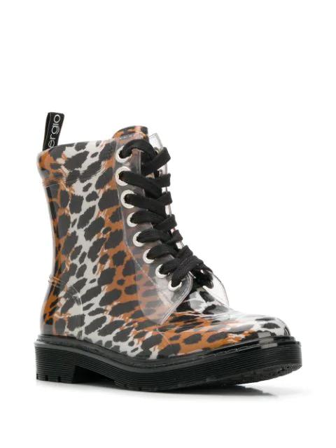 Sergio Rossi Women's Winter Jelly Platform Boots In Neutrals