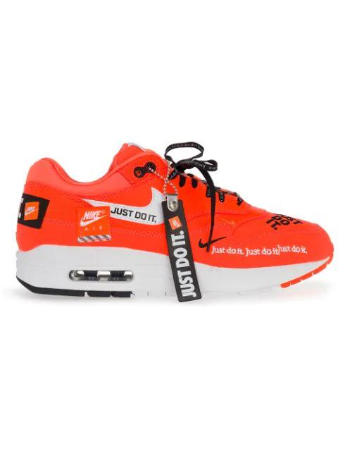 Air Max 1 Lux Just Do It Pack Sneakers In Total Orangewhite black