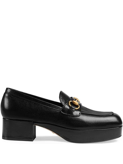 Gucci Women's 5653650G0V01000 Black Leather Loafers