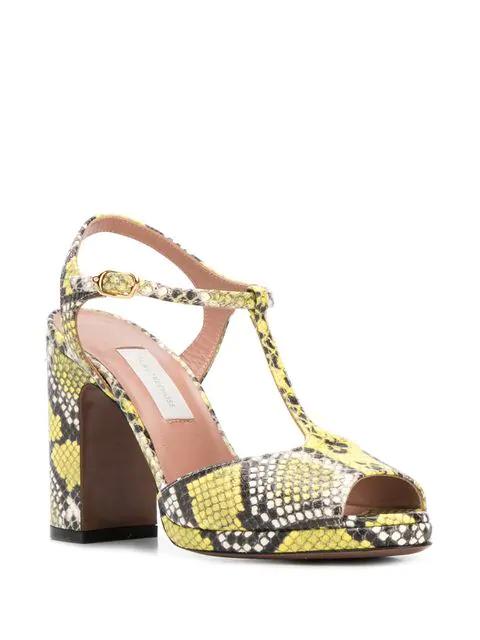 a11e011d1a9 L'Autre Chose Snakeskin Print Sandals - Yellow
