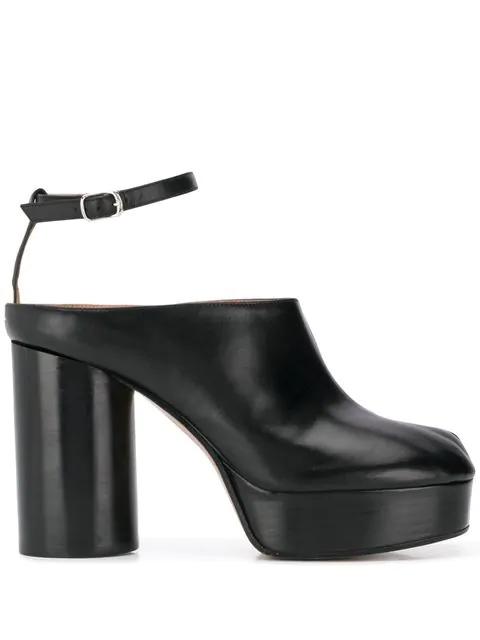 2b97459be7f Tabi Leather Platform Mules in Black