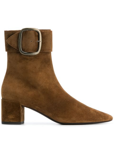 ab26fb231ae Saint Laurent Joplin Suede Ankle Boots - Camel In Brown | ModeSens