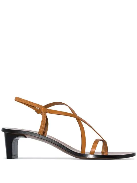 ATP ATELIER ATP ATELIER NASHI STRAPPY SANDALS - BROWN