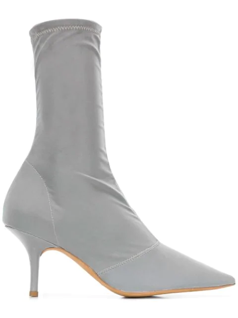 072860ef145 Opening Ceremony Stretch Satin Ankle Boot in Metallic