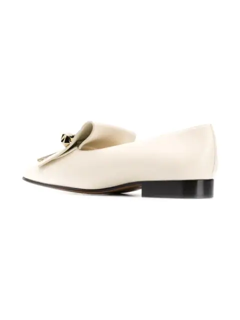 Fringed Leather In Loafers Neutrals Uptown ZTOXuPki