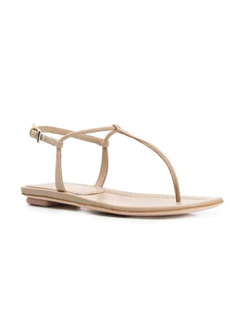 Prada Patent Leather Slingback Sandals In Neutrals