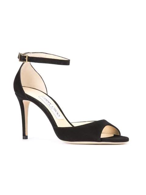 81d7740988c Women's Annie 85 Suede High-Heel Ankle Strap Sandals in Black