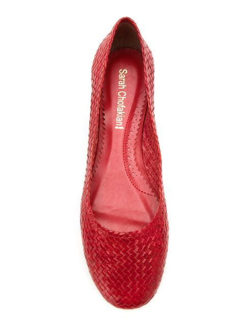 Woven Violet Sarah Ballerinas Chofakian Red rxBeCoWdQ