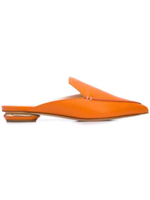 Flat Mules Kirkwood Nicholas Beya Orange 0wn8OPk