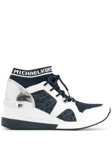 Panelled wedge sneakers