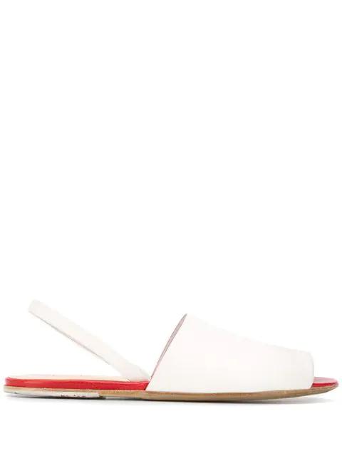 Peep White Sandals Toe Marsèll Marsèll l3KcTF1J