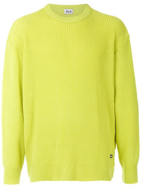 ÀLg Boxy Ribbed Jumper - Green