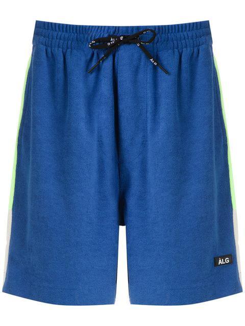 ÀLg Contrast Stripe Shorts - Blue