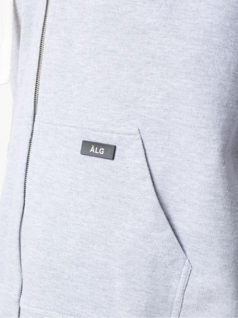 ÀLg Checkered Trim Hoodie - Grau In Grey