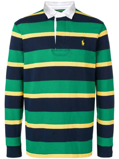 Green Lauren Polo Ralph Striped Shirt PuwTlOikXZ
