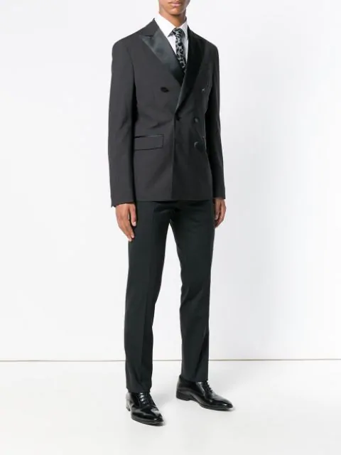 DSQUARED2 SATIN LAPEL TWO PIECE SUIT