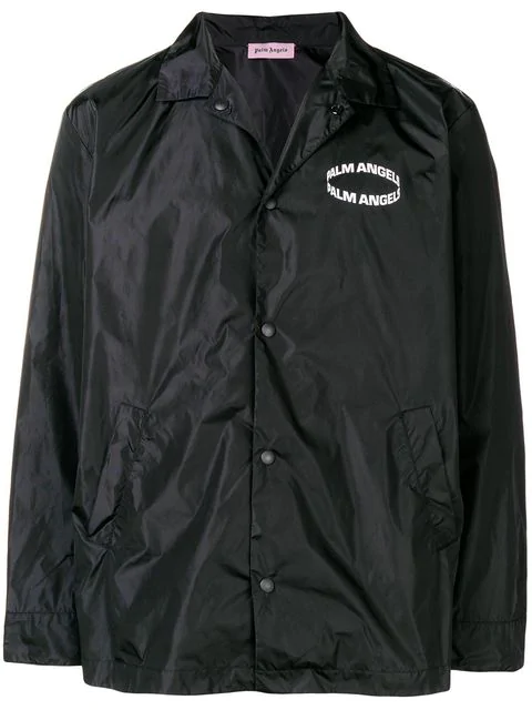 palm angels ring logo track jacket in 1001 black modesens modesens