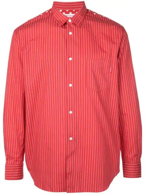 Striped Red Supreme Shirt X Cdg TlF1c3JK