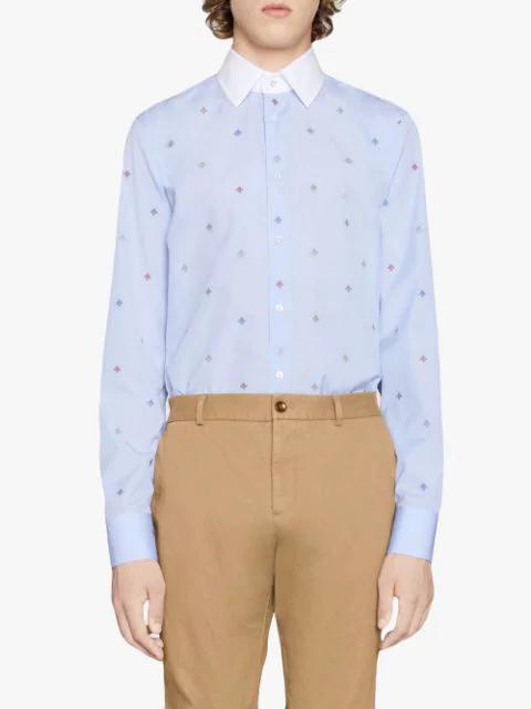 665c4c9362 Bee Fil Coupé Cambridge Shirt in Blue