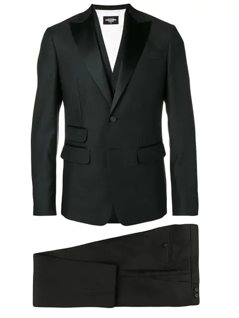 Dsquared2 Formal Three Piece Suit In Black