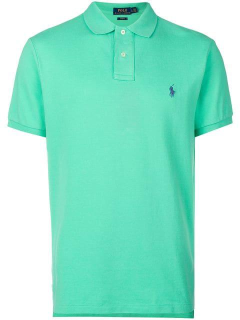 Green Basic Polo Shirt Polo Basic In Shirt In 6vIby7Yfg