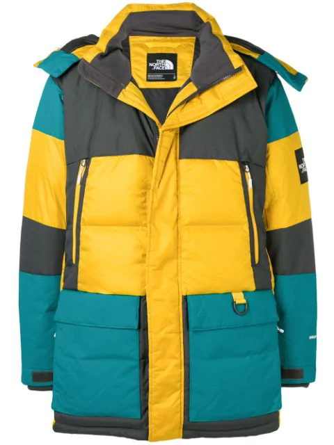 c7d38854d Green-Multi Nylon Parka Down Jacket in Yellow