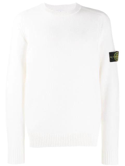 suche nach echtem Preis vergleichen neue niedrigere Preise Stone Island Fein Gestrickter Pullover - Weiß in White