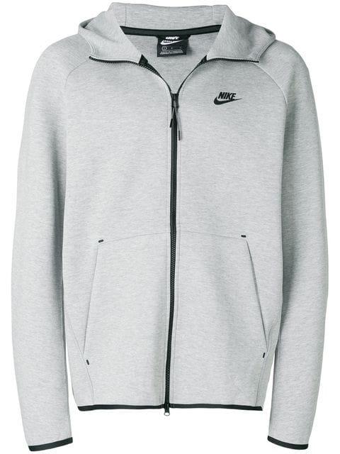 nike fleece hoodie grey