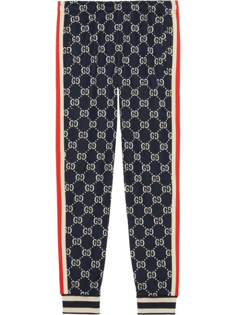 b4fc7827e Gucci Gg Supreme Knit Cotton Jogger Pants - Navy In Blue | ModeSens