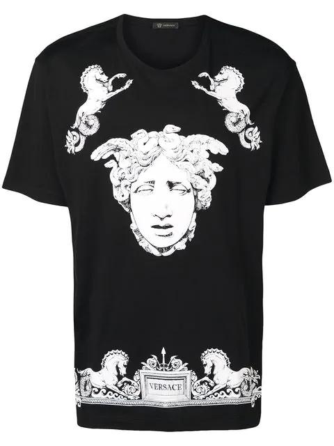14306a8e98 Medusa-Print Cotton-Jersey T-Shirt in Black