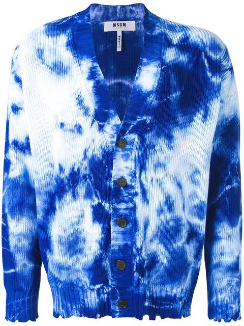Tie Dye Cardigan Blues